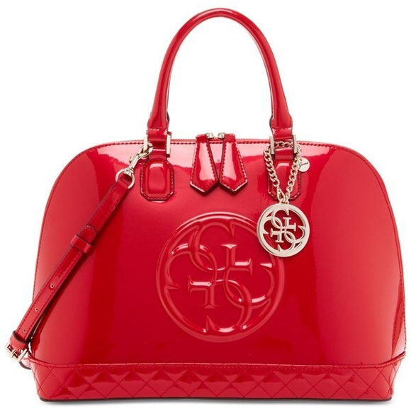 e5cfc1afed4 Guess Bags   Korry Dome Satchel Red Bag   Poshmark